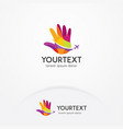 hand travel logo vector image