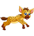 happy hyena cartoon running vector image vector image