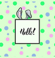 hello rabbit frame vector image