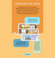 house cross section interior web banner vector image