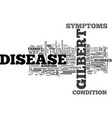 is there any way to cure gilberts disease text vector image vector image