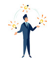 juggling ideas for business flat style cartoon vector image