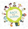 Kids school emblem sketch poster vector image