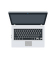laptop concept flat design isolated on white vector image vector image