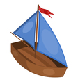 little ship vector image vector image
