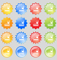 lunch box icon sign Big set of 16 colorful modern vector image vector image