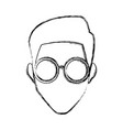 man face with glasses vector image vector image