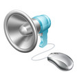 megaphone mouse concept vector image vector image