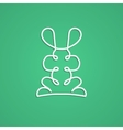 Modern logo in linear design with rabbit vector image vector image