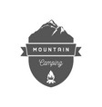 mountain camping logotype vector image vector image