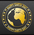 national day of the earth-02 vector image