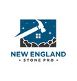 natural stone industry logo vector image vector image