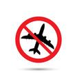 no airplane symbol vector image