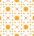 Orange crosses on top perforated rectangles vector image