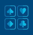 poker icon theme vector image vector image
