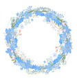 round frame with pretty flowers muscari and text vector image vector image