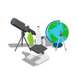 scientific equipment for observation and research vector image vector image