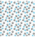 seamless pattern with paw footprints a vector image vector image