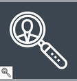 searching employee thin line icon vector image