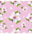 Seasonal background seamless pattern sakura vector image vector image