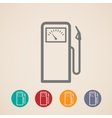 set of gas pump icons vector image vector image