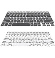 simple laptop keyboard vector image