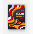 special promo card half price black friday sale vector image vector image