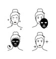 steps how to apply facial mask beauty fashion vector image vector image