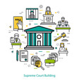 supreme court building - round concept vector image vector image