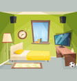 teen room small bedroom for kids student vector image vector image