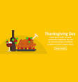 thanksgiving day banner horizontal concept vector image vector image