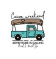 vintage camping adventure badge