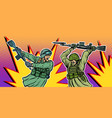 war and hatred soldiers kill each other vector image vector image