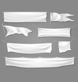 white textile banners and flags vector image vector image