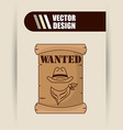 wild west design vector image