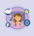 woman sleeping and taking good night vector image vector image