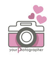 your photographer photo mobile app with camera vector image vector image
