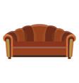 sofa icon room color design flat furniture vector image