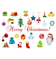 Christmas and New Year design elements vector image