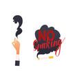 flat danger of smoking symbols icon set vector image