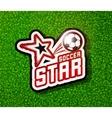 Soccer badge logo template football design vector image