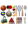 Sports equipment and balls vector image