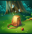 cartoon of background forest vector image