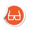 3d cinema glasses icon orange sticker vector image vector image