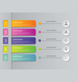 abstract of colorful infographic business steps vector image
