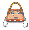 afraid hand bag mascot cartoon vector image vector image