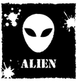 alien logo on black background vector image