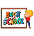 back to school template withboy vector image