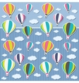 Background with air balloons and clouds vector image vector image