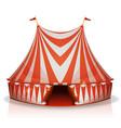 big top circus tent vector image vector image